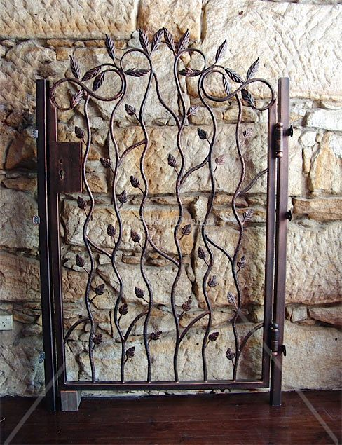 Leaf Design Gate Wrought Iron Gates Garden Ideas Wrought Iron