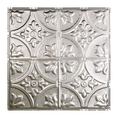 Jamestown 2 ft. x 2 ft. Nail-up Tin Ceiling Tile in Clear - T51-04 - The Home Depot