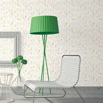 behang brush geel retro vintage in eigentijdse woonkamer | RETRO ...