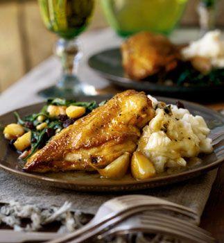 Braised Chicken with Garlic and White Wine