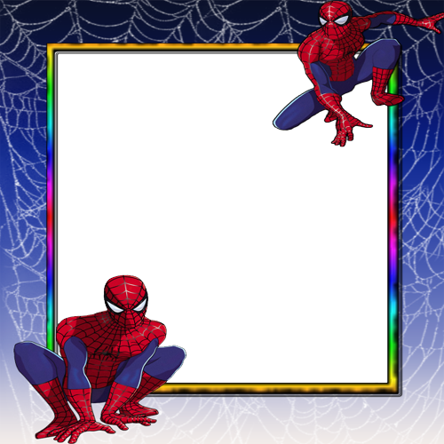 Put Your Photo On Spiderman Photo Frame With Custom Name