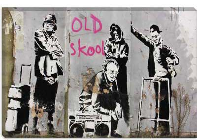 Old Skool by Banksy  Giclee Poster