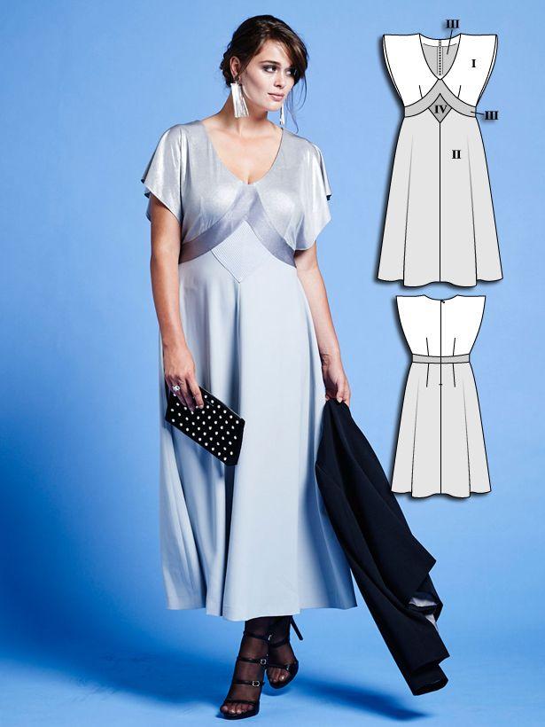 Batwing Midi Dress (Plus Size) 01/2016 #136B | Große größen und Nähen