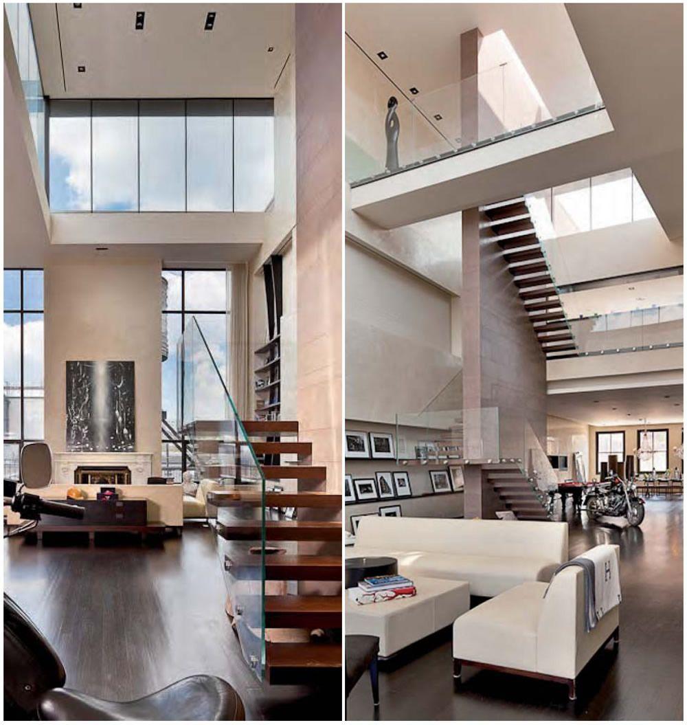 new york loft w super light stairs living haus architektur und einrichtung. Black Bedroom Furniture Sets. Home Design Ideas
