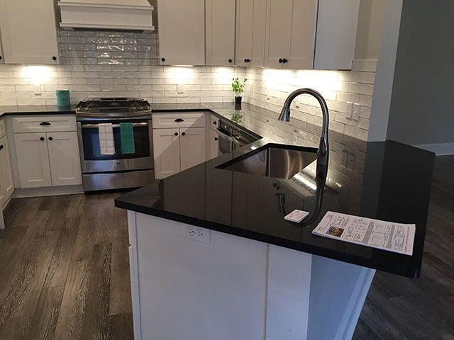 White And Simple Backsplash Kitchen Countertops Gallery By Luxury