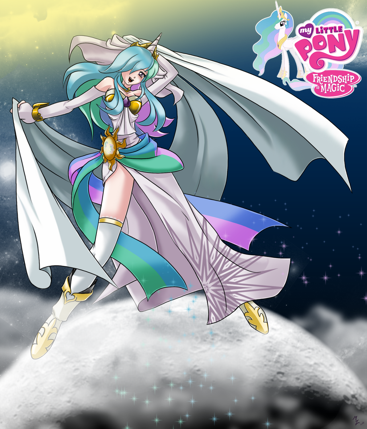 Image pinkie pie and fluttershy flying png my little pony fan - Fan Princess Celestia By Mauroz On Deviantart Find This Pin And More On My Little Pony