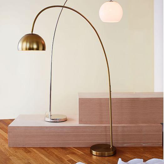 Overarching Metal Shade Floor Lamp