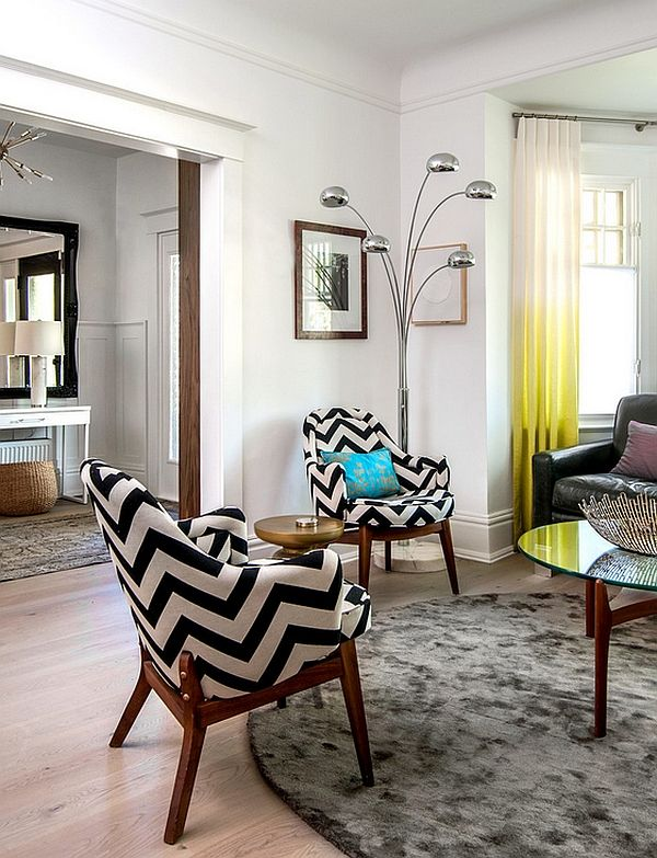 Chevron Pattern Ideas For Living Rooms: Rugs, Drapes And Accent .