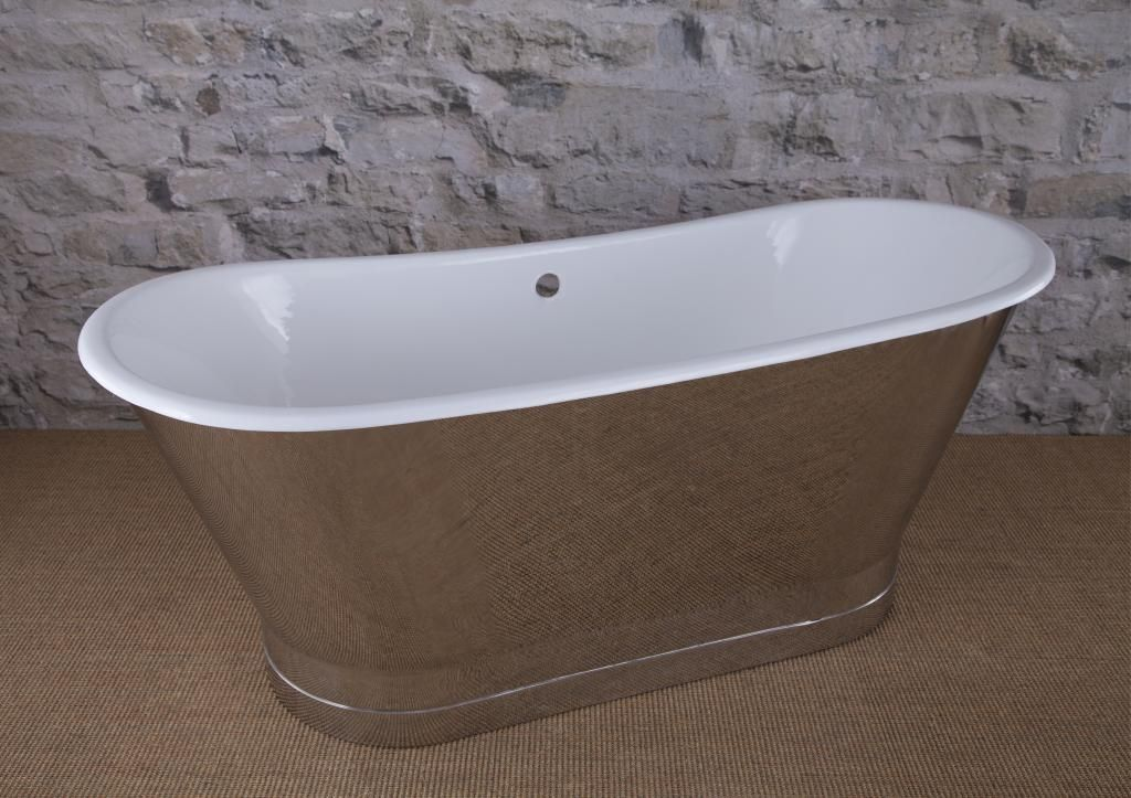 Steel Skirt Plinth Mirror Polish Bath,single slipper bath,Roll Top ...