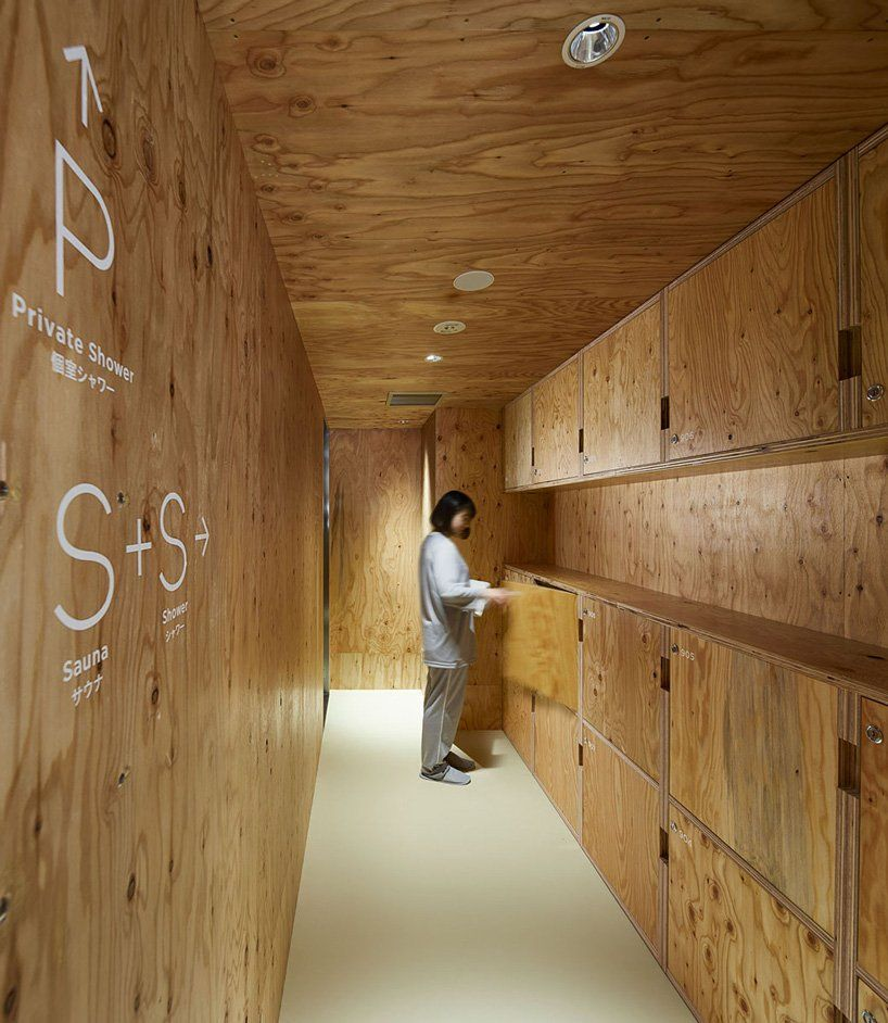 the ℃ capsule hotel in tokyo combines micro-living with a unique sauna experience