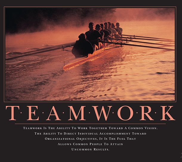 9 Iconic Motivational Posters Teamwork Quotes Inspirational Team Quotes Team Quotes
