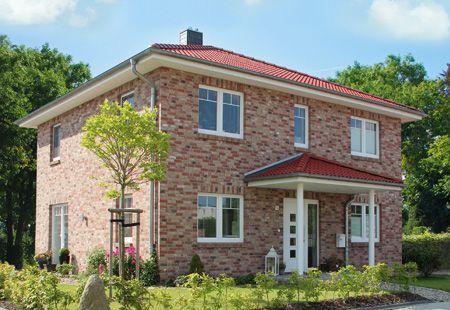 Stadtvilla klinker  Die Stadtvilla mit überdachtem Eingang | Haus | Pinterest ...