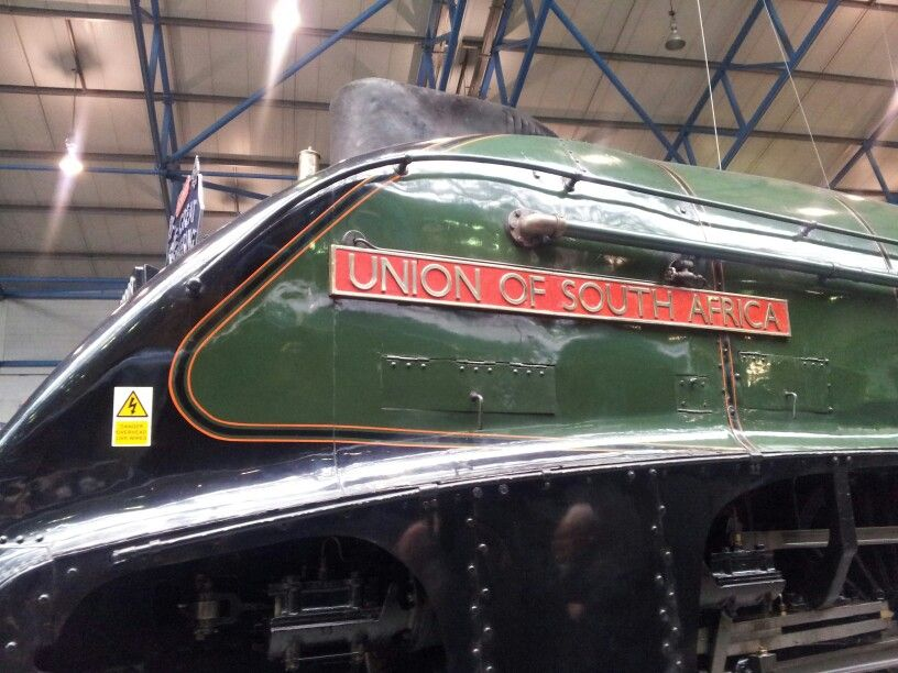 Union of South Africa A4 class engine on visit to York Rail Museum
