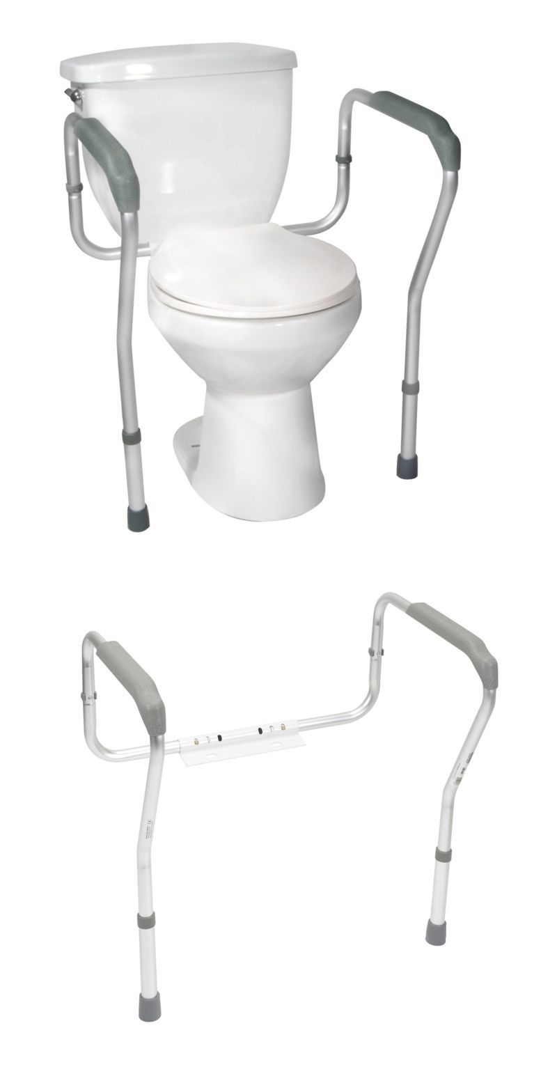 Other Accessibility Fixtures: Toilet Rail Bathroom Seat Safety Frame Elderly  Handicap Toilet Safety Handrail