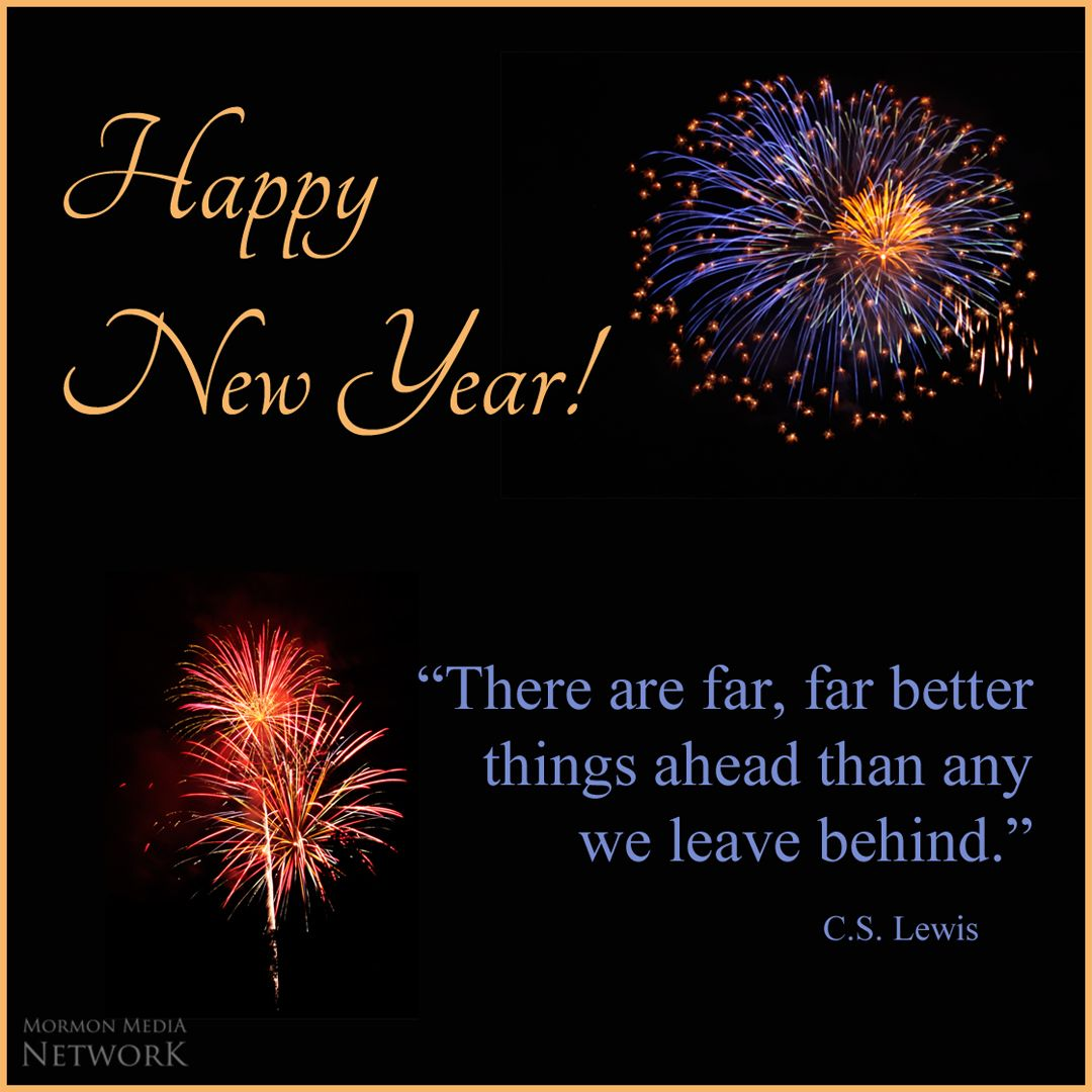 Happy New Year! There are far, far better things ahead