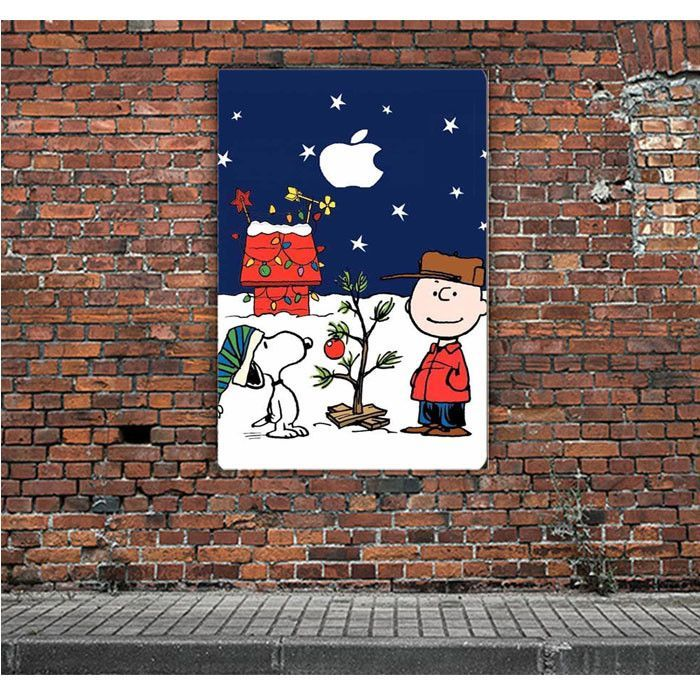 SNOOPY AND CHARLIE BROWN CHRISTMAS LIGHTS APPLE ARTWORK POSTERS ...