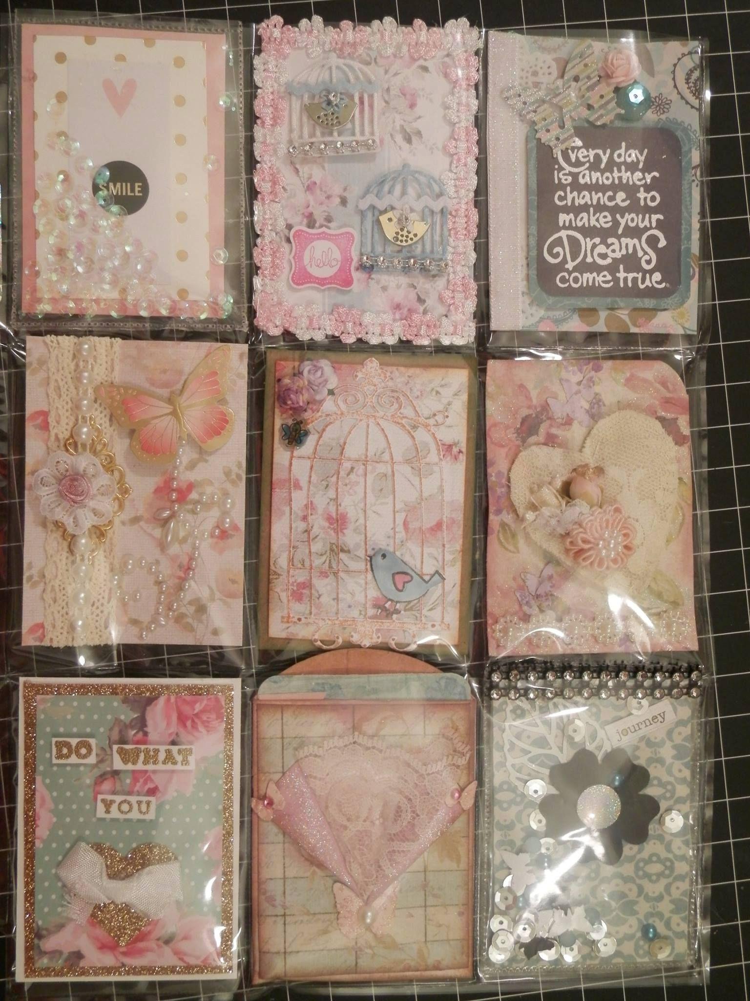 Pocket Letter Scrapbook paper flowers, Pocket