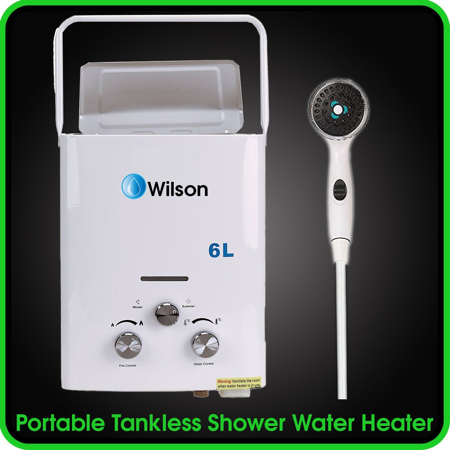 Tankless Water Heater Portable Instant Hot Shower   6L / 1.5 GMP   Best For  Outdoor, Camping, Sailboat, Cabin And Off The Grid Living   Easy To Use And  ...