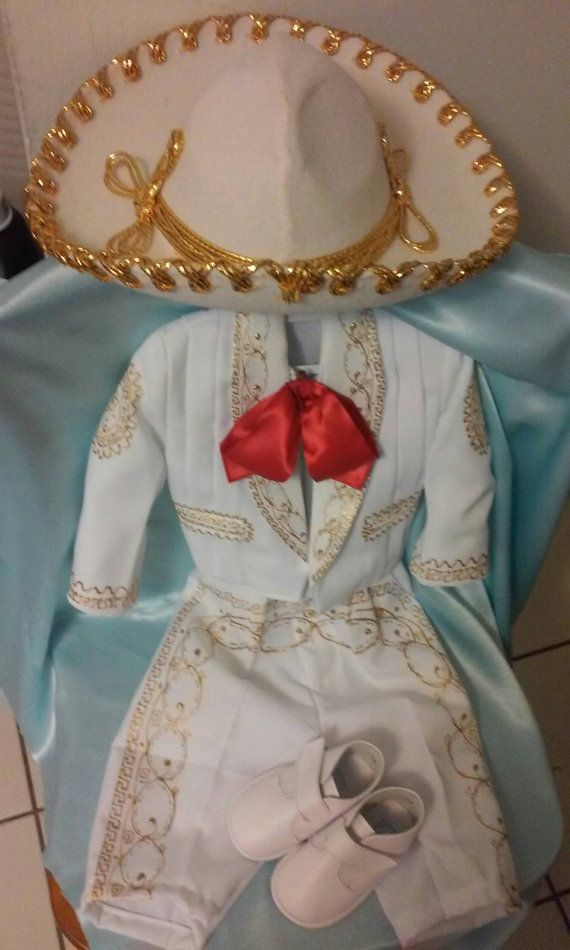 Charro Gala Outfit And Hat For Baby And Boys Baptism 5
