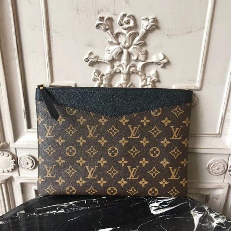 2dc75c3b587 Louis Vuitton M62048 Daily Pouch Monogram Canvas Noir