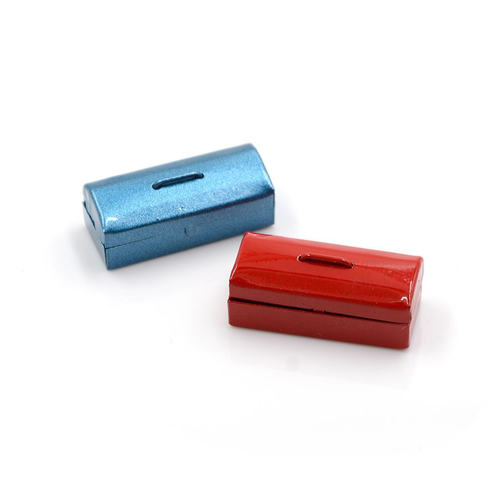 Red//Blue 1:12 Dollhouse Miniature Mini Metal Tool BoxKTP