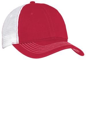 4562e5eb017 District - Mesh Back Cap Style DT607  hat  cap  mesh  red  white