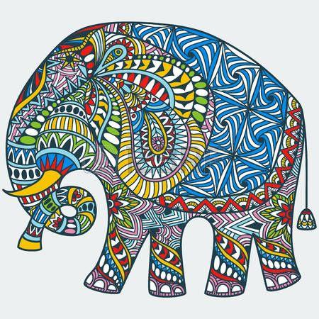 Mandala Tatoo: Vecteur Dessinée À La Main Couleur Tatouage Doodle