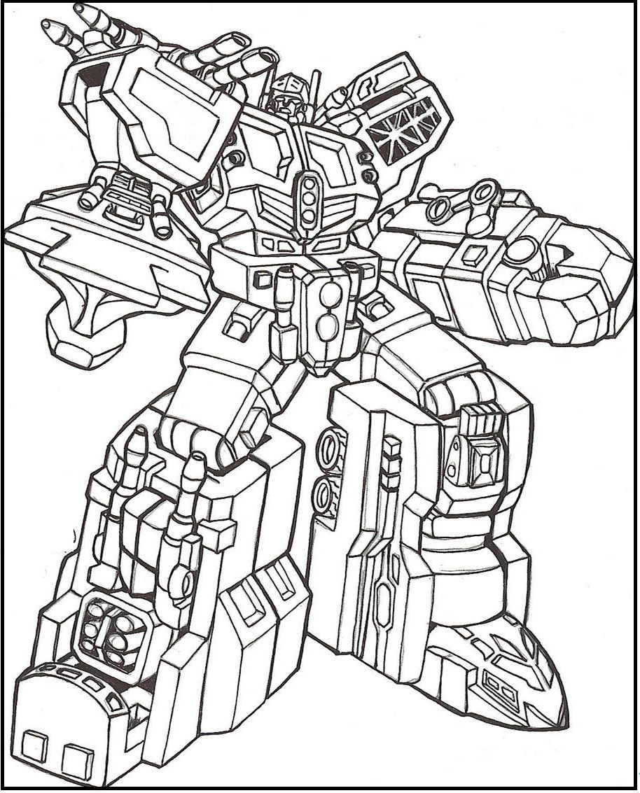 Transformers Full Weapons coloring picture for kids