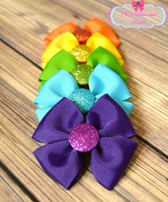 gift handmade summer collection vera rose bows animal bow hairbows Summer bow glitter glitter bow