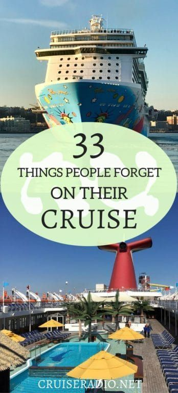 33 Things People Forget On Their Cruise In 2018 Cruise