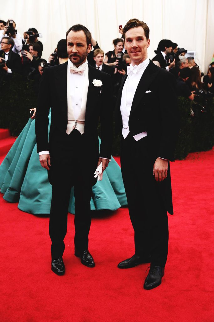 uilasharryfanfiction:   Tom Ford and Benedict Cumberbatch in Ralph Lauren   …..and BOOOOOOOOOOOOOOOOOOOOOOOM goes the dynamite!