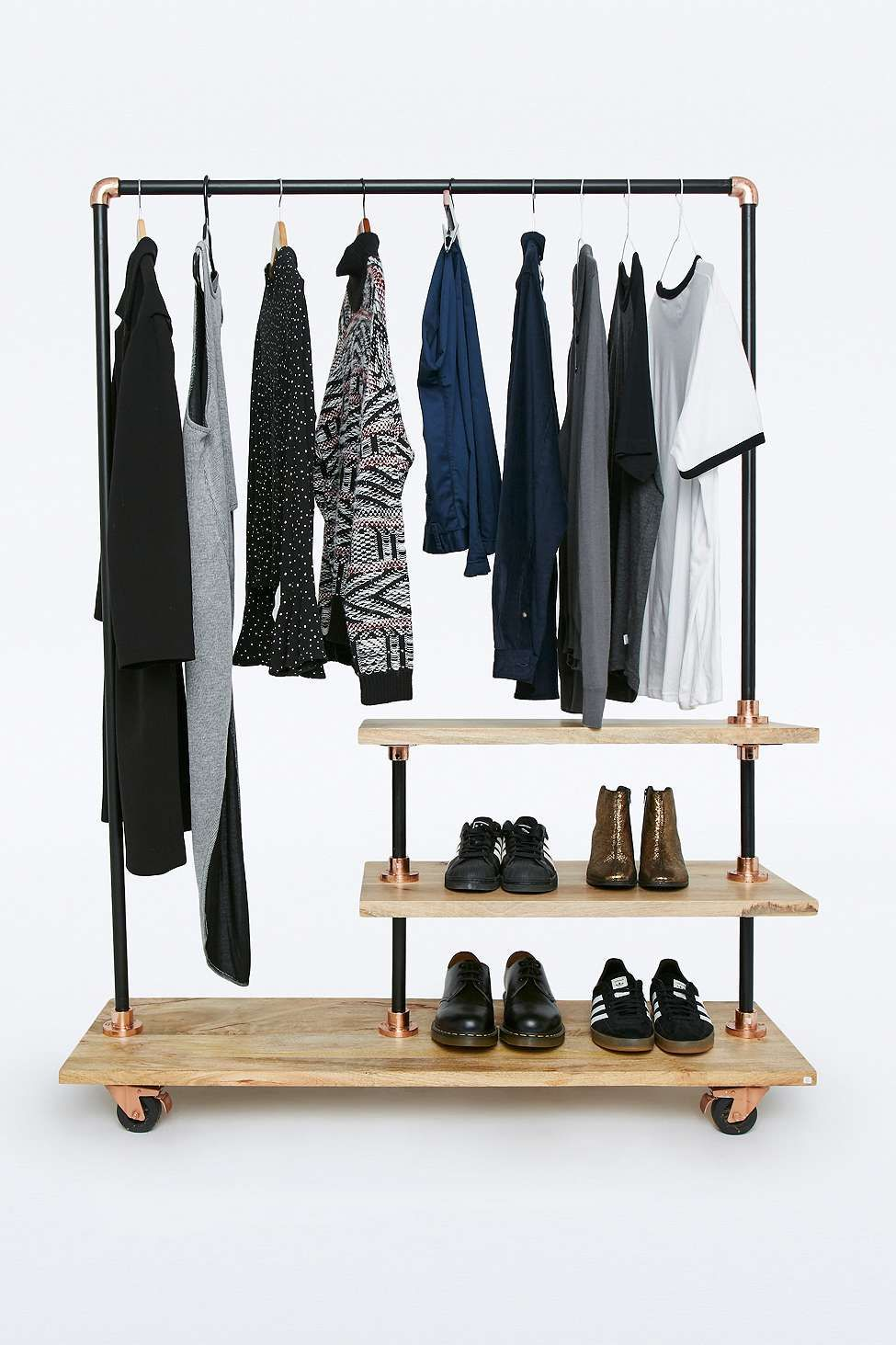 Portant Magasin Iron And Wood Clothes Rack It Feels Like Home Muebles