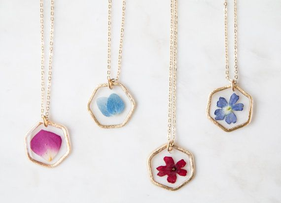 Pressed flower pendant necklace by bloomandpressbyjen on etsy i like pressed flower pendant necklace by bloomandpressbyjen on etsy i like the dark blue and red mozeypictures Choice Image