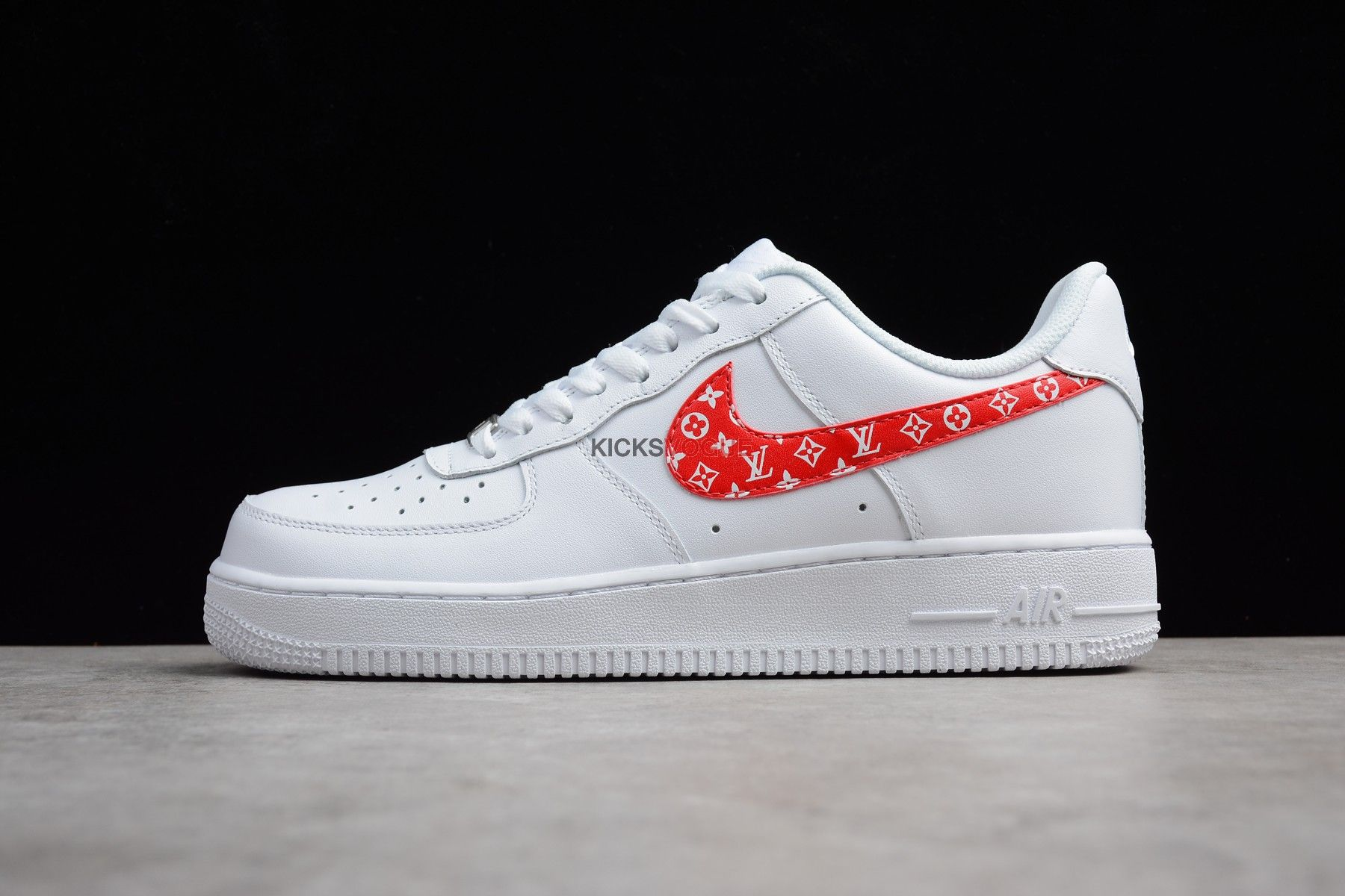 Custom Nike Air Force 1 x Supreme x LV | Nike shoes air ...