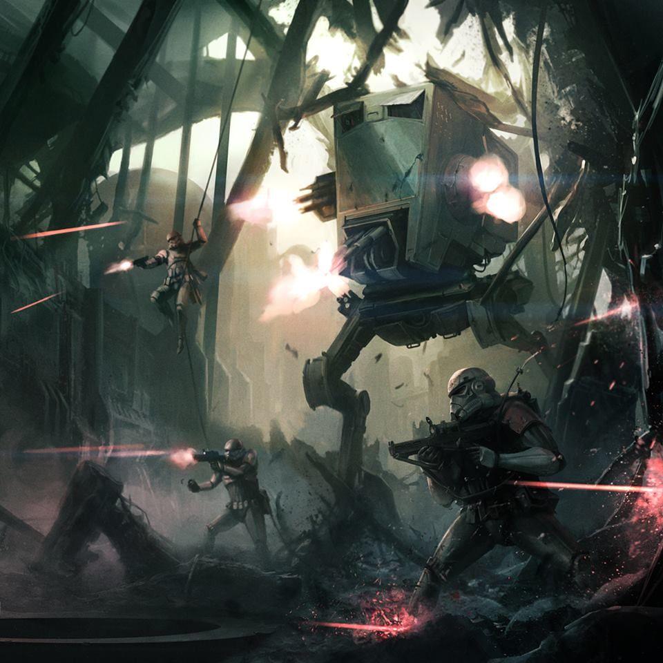 Ground Battle Star Wars Illustration Star Wars Pictures Star Wars Images