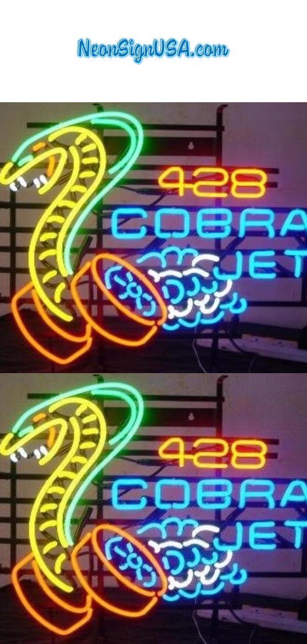 Custom Made Cobra Jet 428 Glass Neon Light Sign Beer Bar