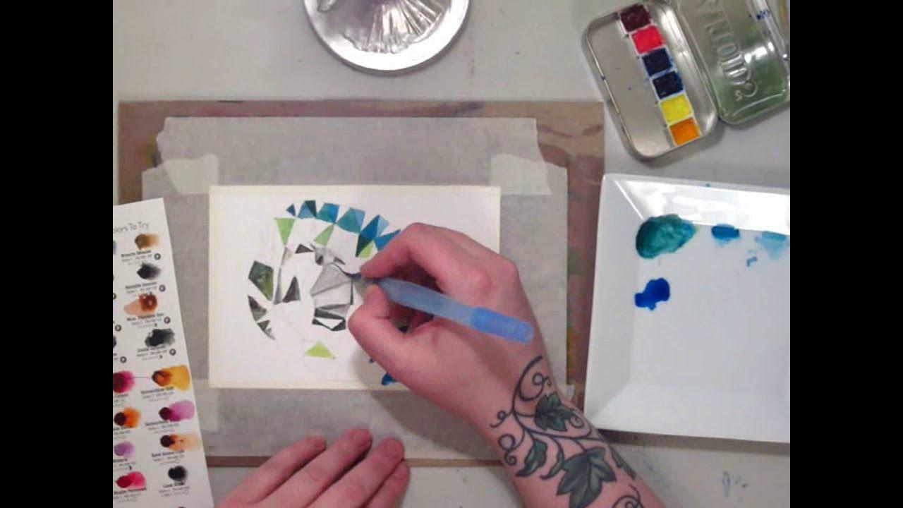Watercolor Speedpaint Low Poly Wants A Cracker Daniel Smith Paint