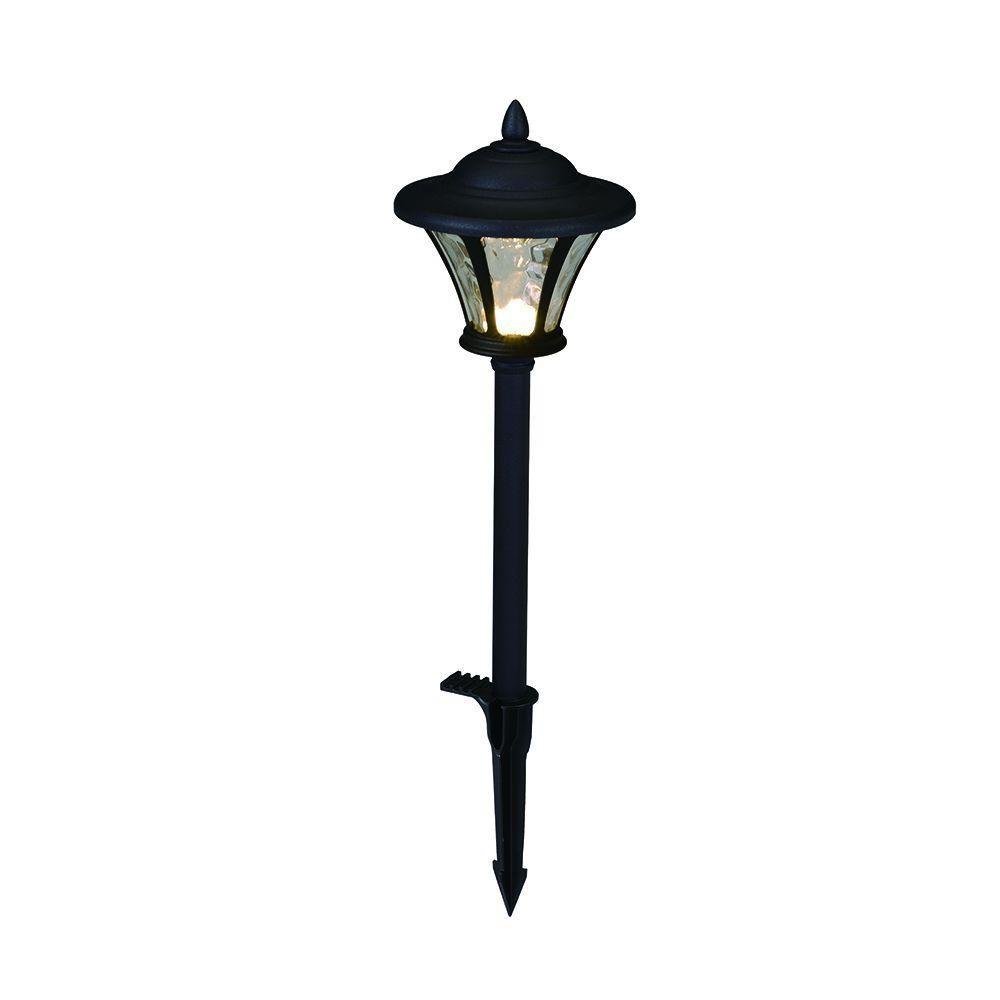 low voltage interior lighting kits%0A Hampton Bay LowVoltage LED Black Metal Coach Path Light   Pack