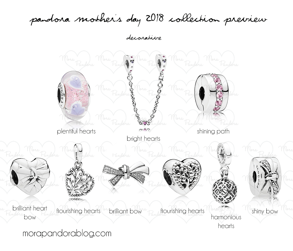 c1136bc7e Pandora Mother's Day 2018 preview decorative charms - a very nice  decorative set coming out in April!