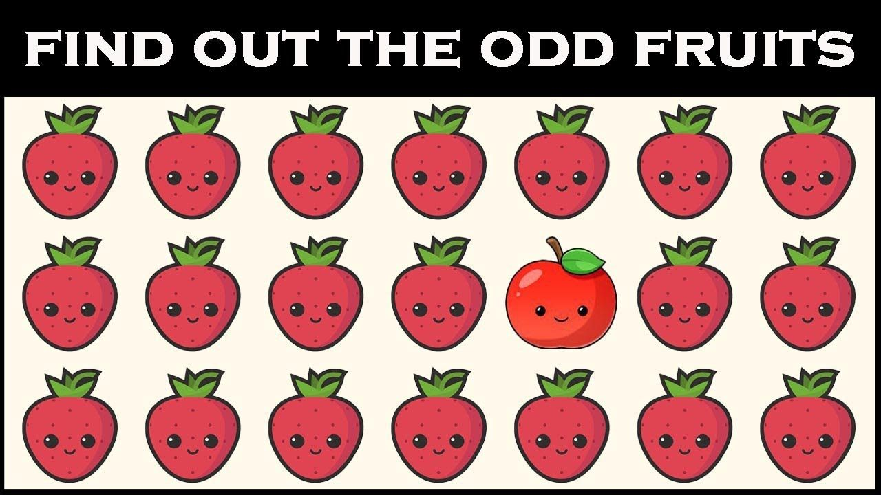 Find The Odd Fruits Within 20 Seconds Find The Odd One Out Spot The Odd Ones Out Trick Questions Funny Emoji Puzzle [ 720 x 1280 Pixel ]