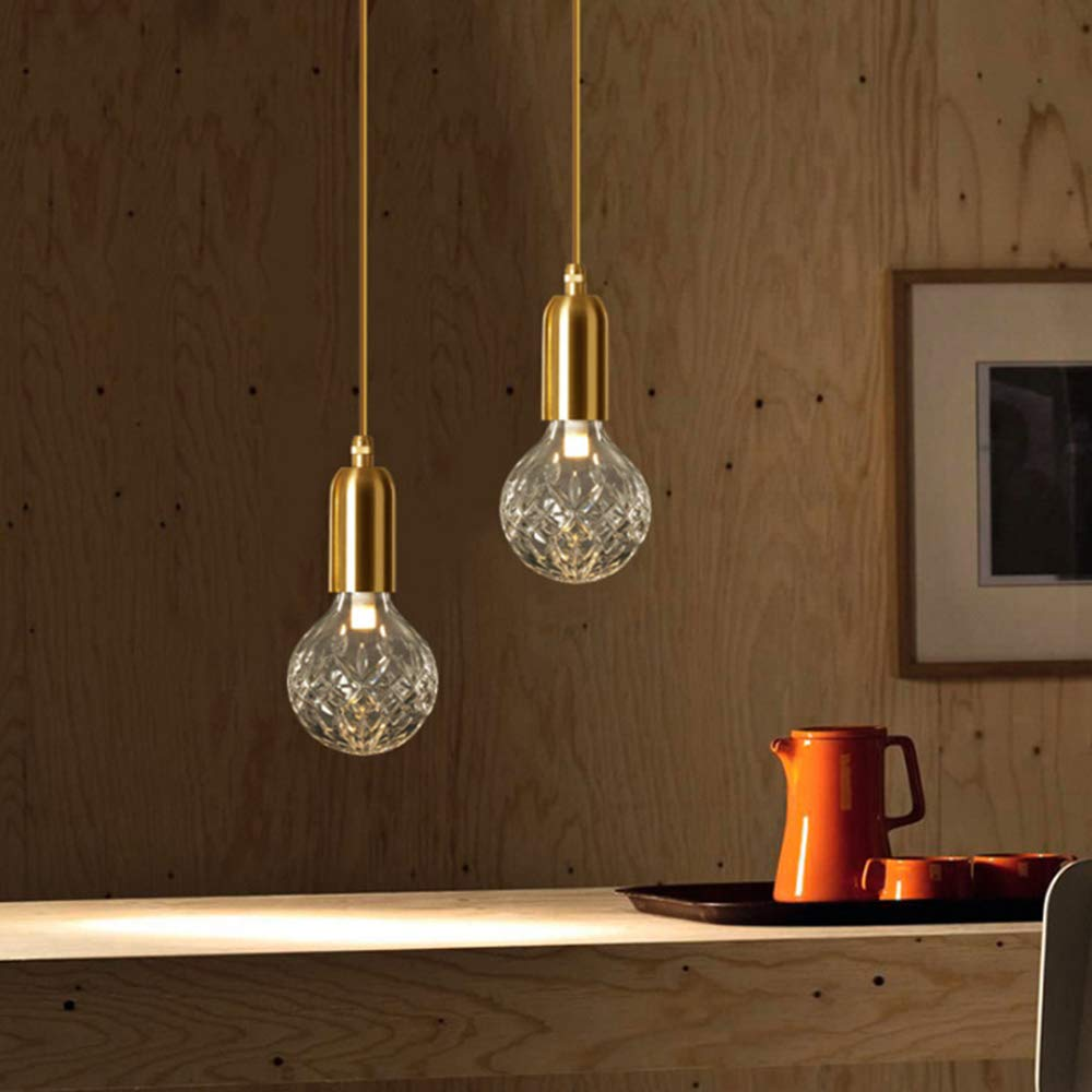 Yym Modern Pendant Light Fitting Pineapple Shape Ceiling Lamp Shade Clear Grid Glass Lampshade Adjusta Modern Pendant Light Pendant Light Pendant Light Fitting