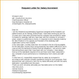 Increment Letter Request Letter For Salary Increment Pdf.salary Increase Template 124 .