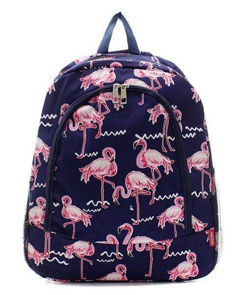 Personalized Pink Flamingo Student Backpack
