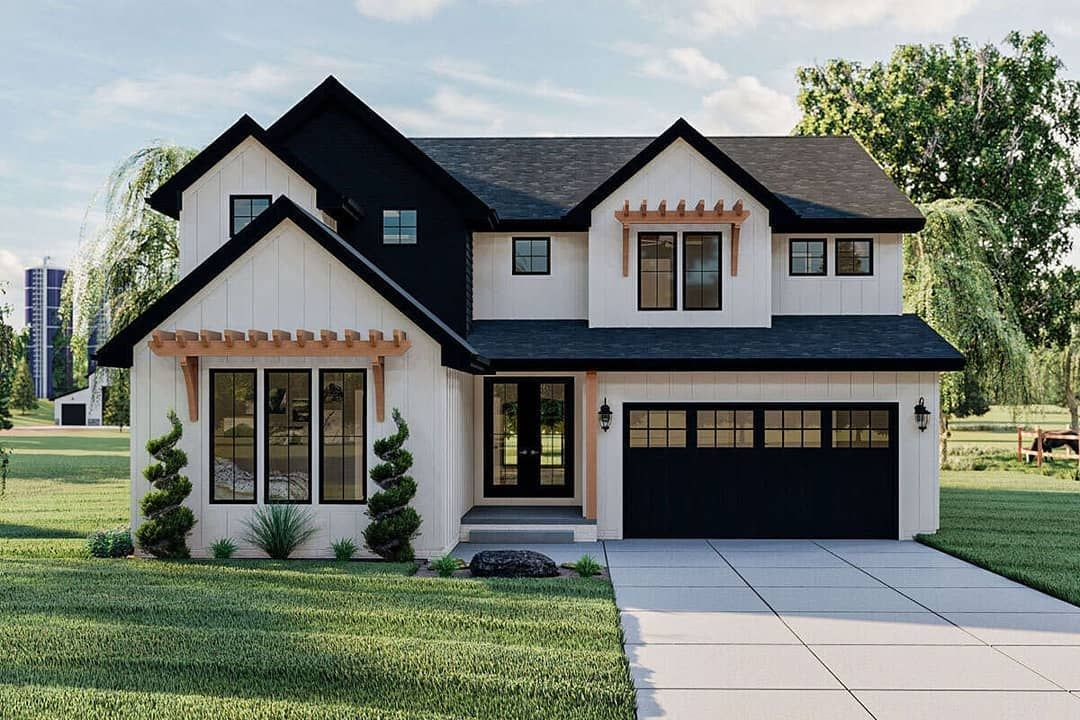 America S Best House Plans On Instagram A Brand New Modern Farmhouse Home Plan 963 00447 Has 3 124 Sq Ft 5 Bedrooms 4 5 Bathrooms An In Law Suite A Mudroom And A 2 Car House Plans