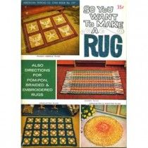 Rug Patterns Crochet Woven Braided Knotted + 4 Fringes