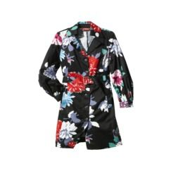 Kirna Zabete for Target® Long-sleeve Trench Coat in Floral Black/Multicolor