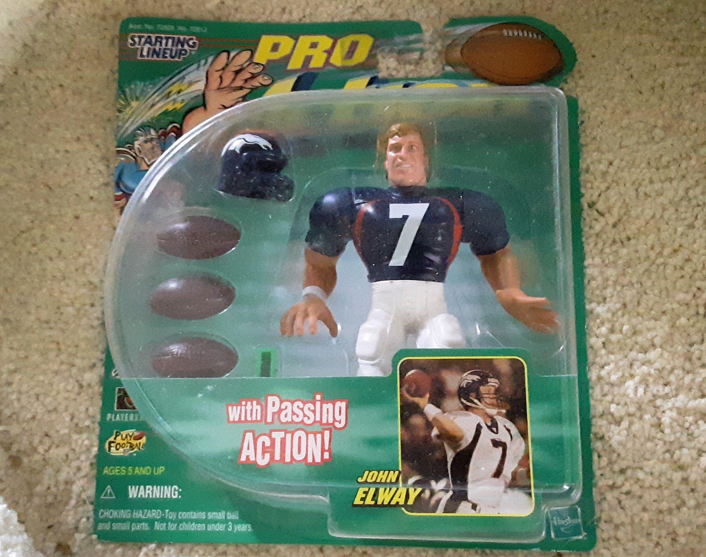 Vintage John Elway Starting Lineup Pro Action Figure Denver Broncos Football