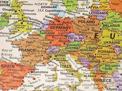 Globes and maps 102952 contemporary world wall map laminated 50 x globes and maps 102952 contemporary world wall map laminated 50 x 29 gumiabroncs Images