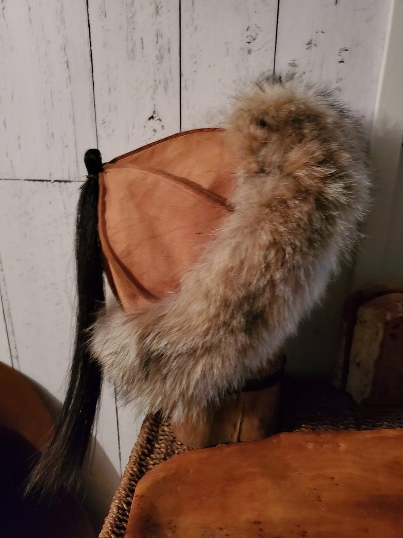 Grey Fur Trim BARBARIAN FUR BELT