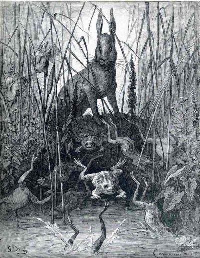 Les Peintres Du Dimanche Gustave Dore Gustave Dore Art Du Conte De Fees Fables De La Fontaine